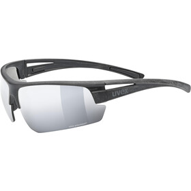 UVEX Sportstyle Ocean Polavision Glasses black matt/mirror silver